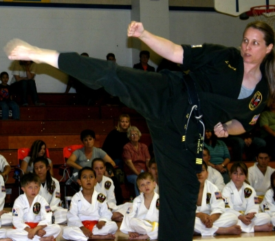 Round-house kick in kata