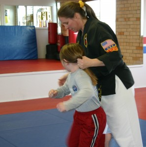 teaching kids karate